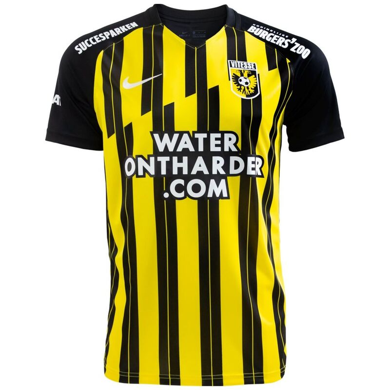 Vitesse Home 2020/2021 Football Shirt Manufactured By Nike. The Club Plays Football In The Netherlands.