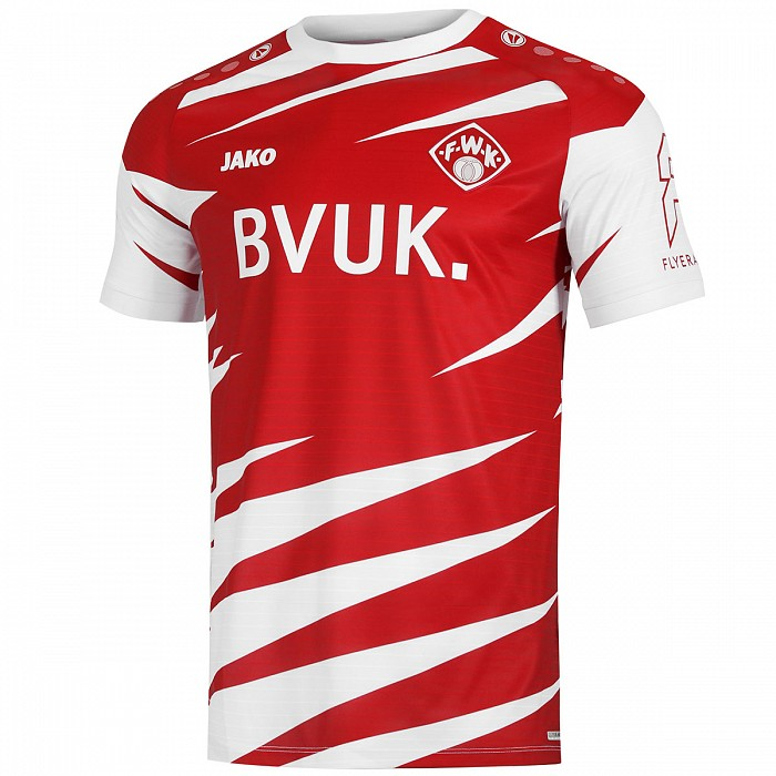 Würzburger Kickers Home 2020/2021 Football Shirt Manufactured By Jako. The Club Plays Football In Germany.