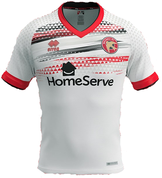Walsall Away 2020/2021 Football Shirt Manufactured By Errea. The Club Plays Football In England.