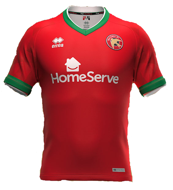 Walsall Home 2020/2021 Football Shirt Manufactured By Errea. The Club Plays Football In England.