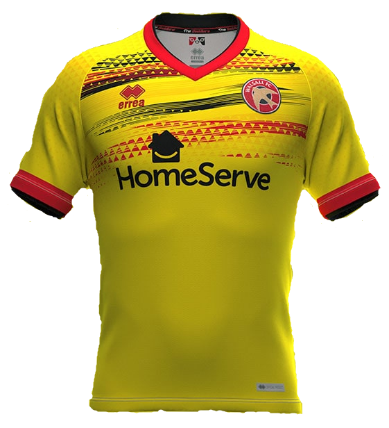 Walsall Third 2020/2021 Football Shirt Manufactured By Errea. The Club Plays Football In England.