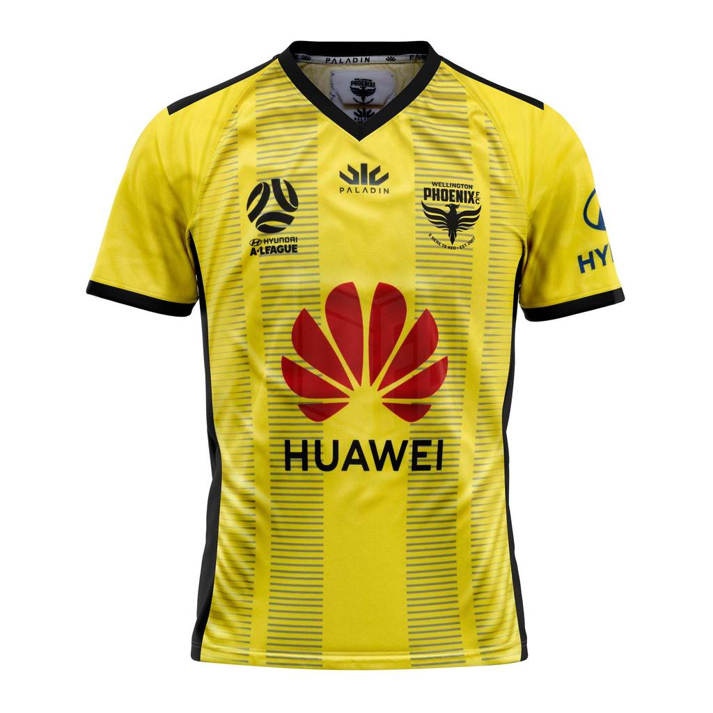 Wellington Phoenix FC Home 2019/2020 Football Shirt. The shirt is manufactured by Paladin and the club plays in New Zealand.