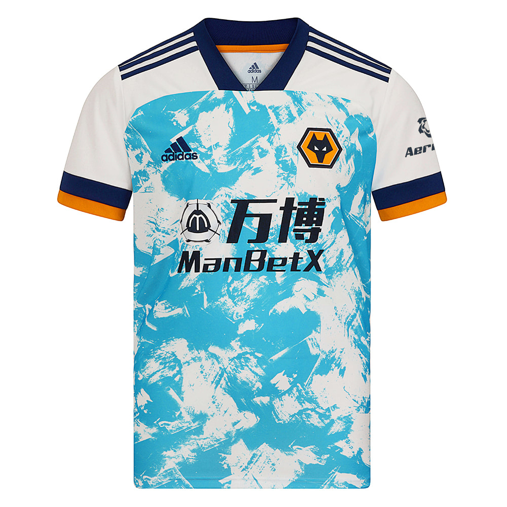 Wolverhampton Wanderers 2020/2021 Away Football Shirt Manufactured By Adidas. The Club Plays Football In England.