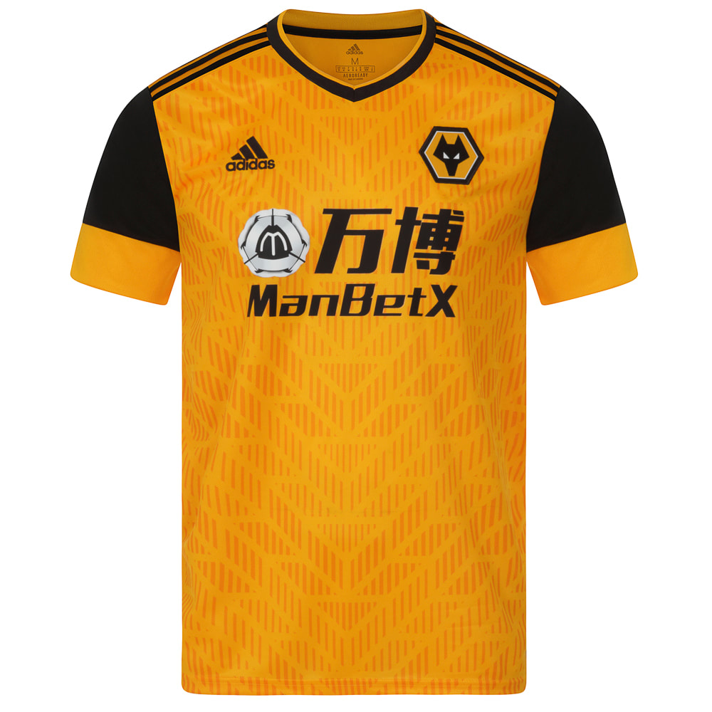 Wolverhampton Wanderers 2020/2021 Home Football Shirt Manufactured By Adidas. The Club Plays Football In England.
