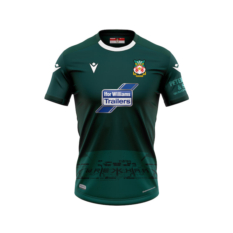 Wrexham Away 2020/2021 Football Shirt Manufactured By Macron. The Club Plays Football In England.